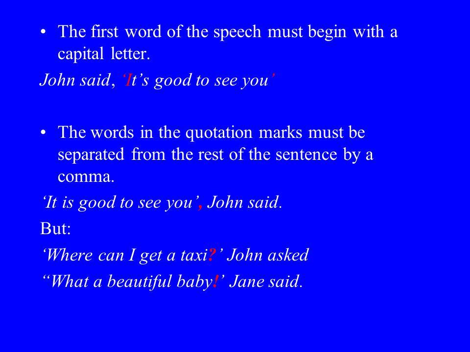 how to begin a speech