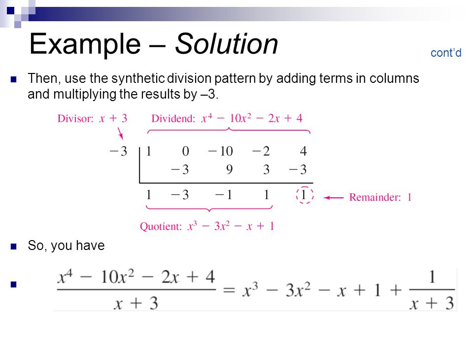 how to use synthetic division.co