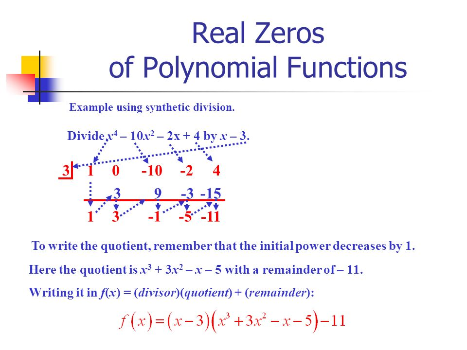 writing a division algorithm polynomials