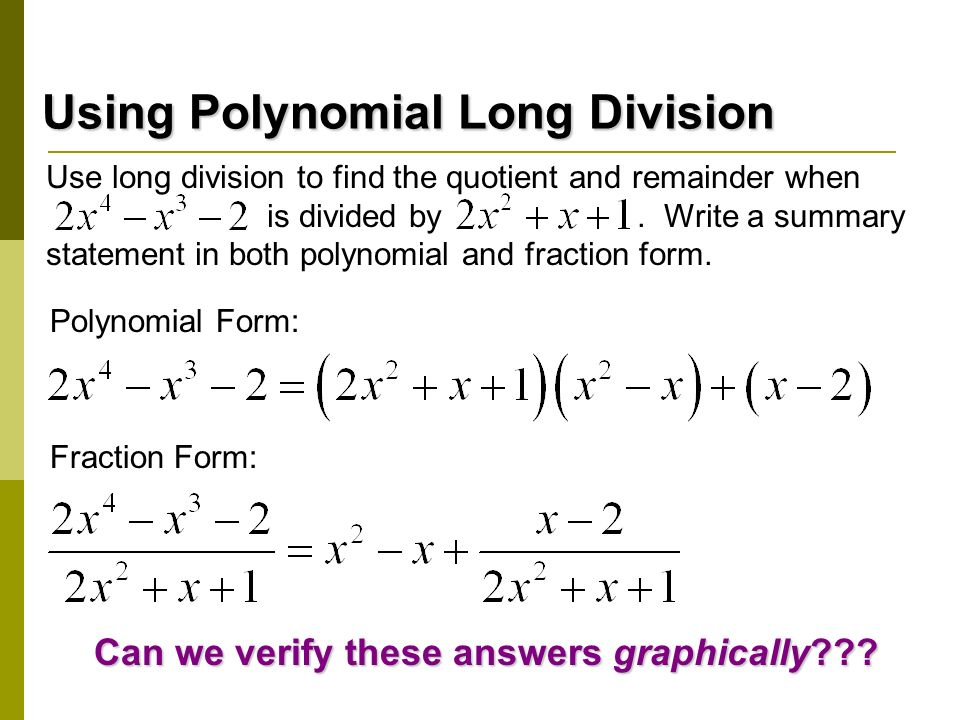 relationship between dividend divisor quotient and remainder of polynomial