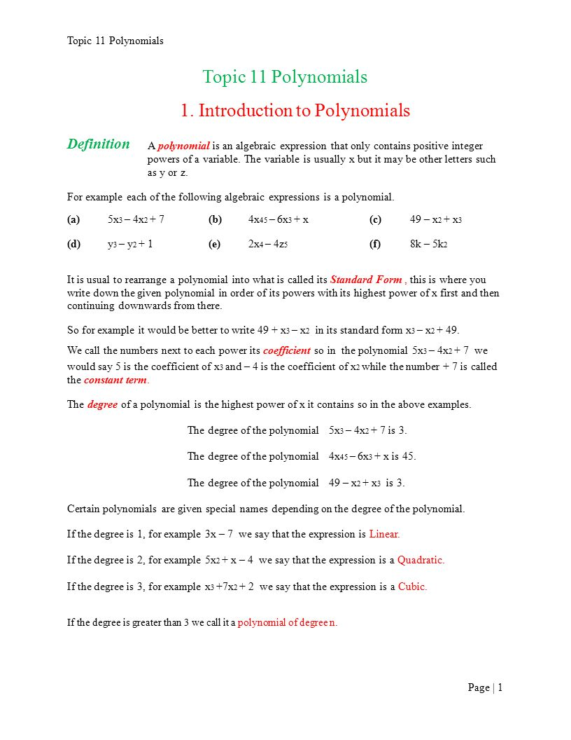 1 introduction to polynomials ppt video online download introduction to polynomials spiritdancerdesigns Gallery