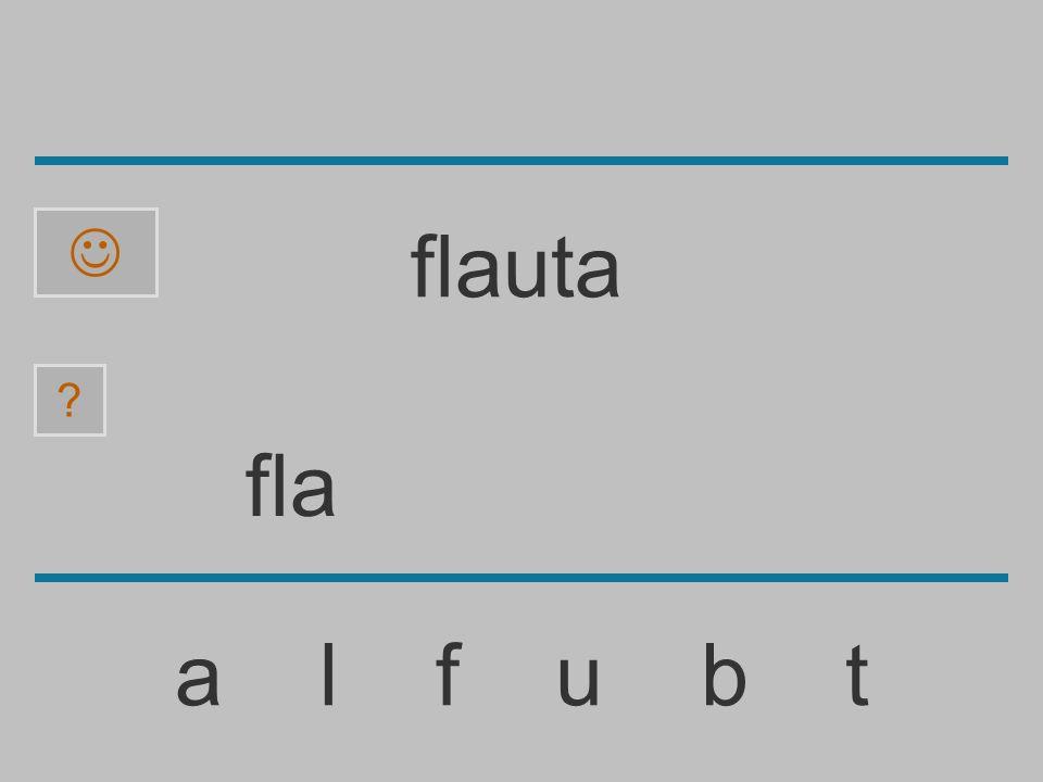  flauta fla a l f u b t