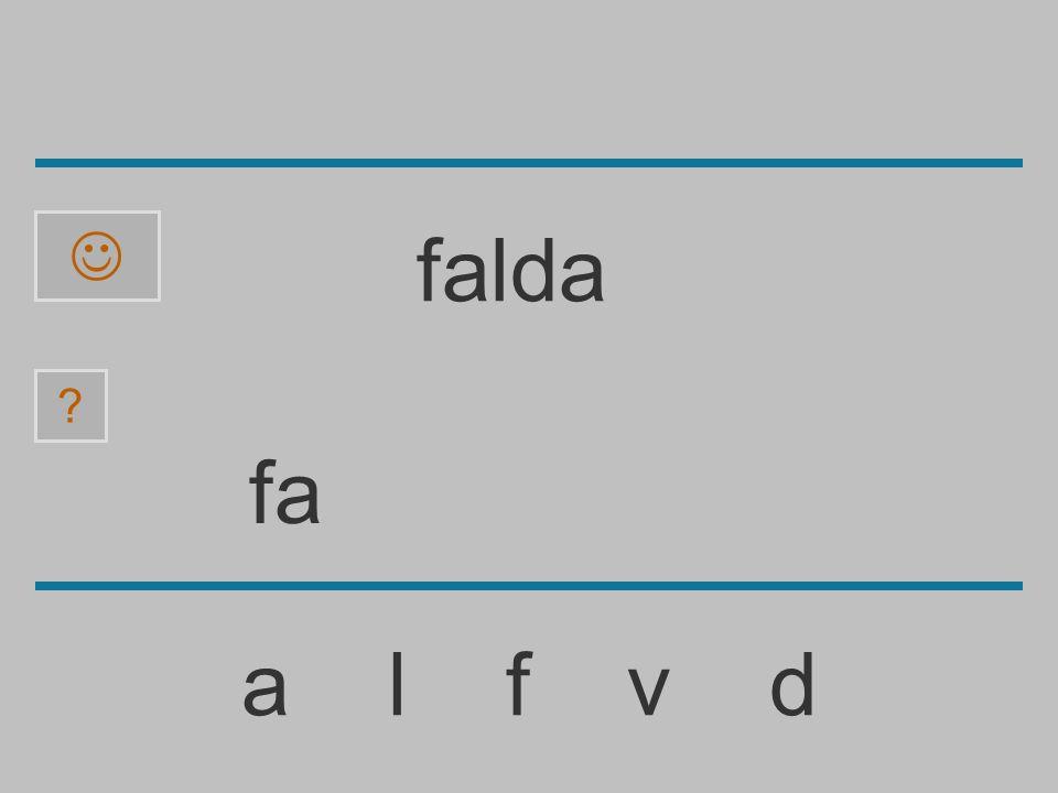  falda fa a l f v d