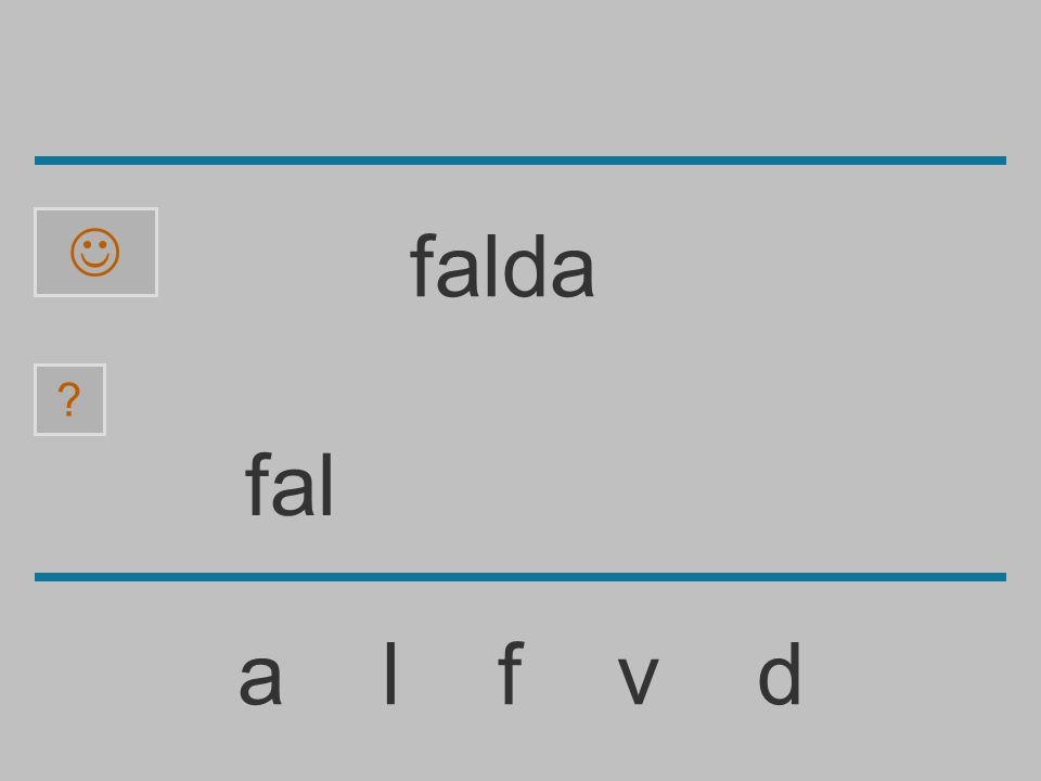  falda fal a l f v d