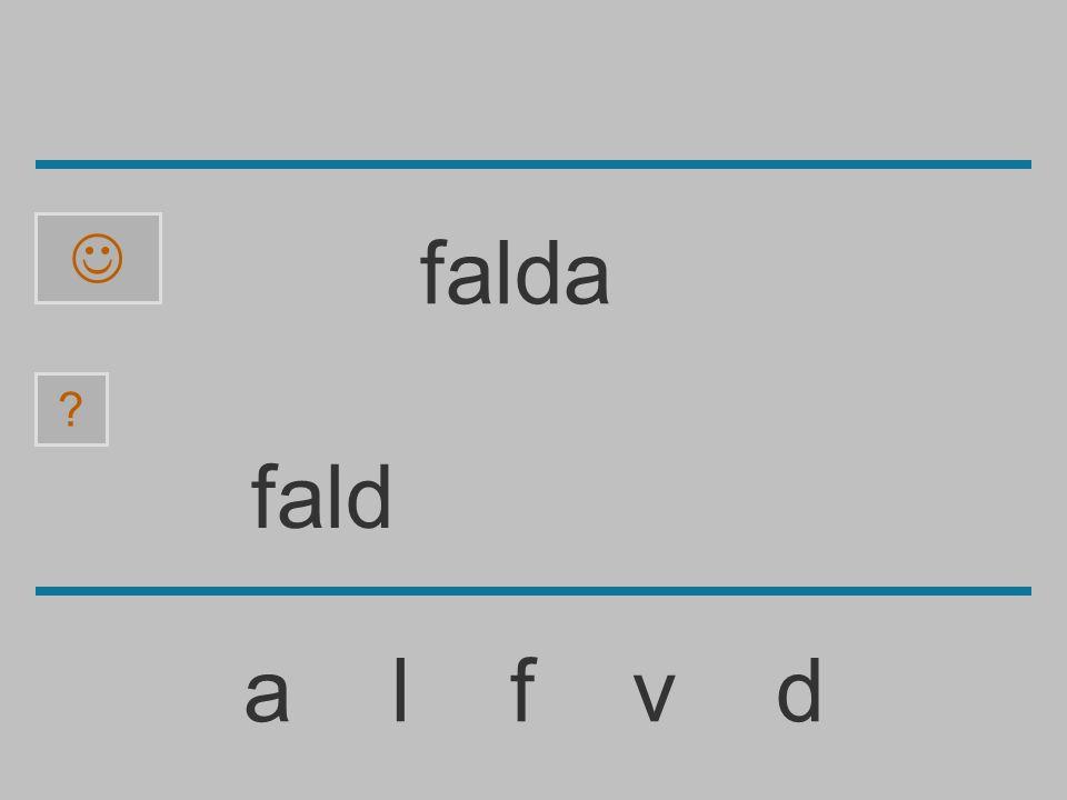  falda fald a l f v d