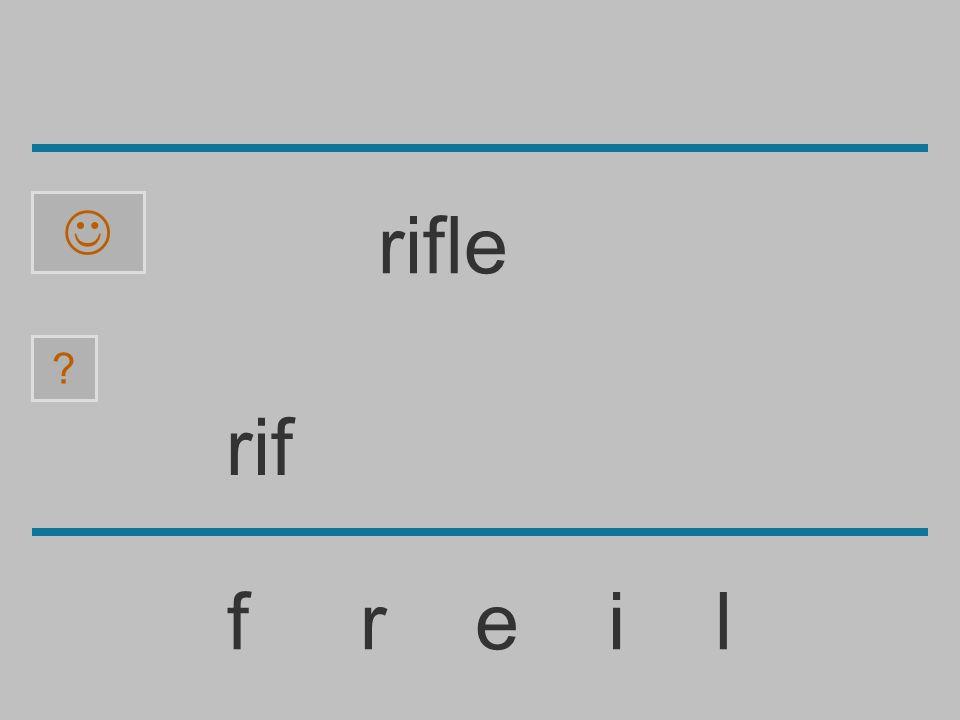  rifle rif f r e i l