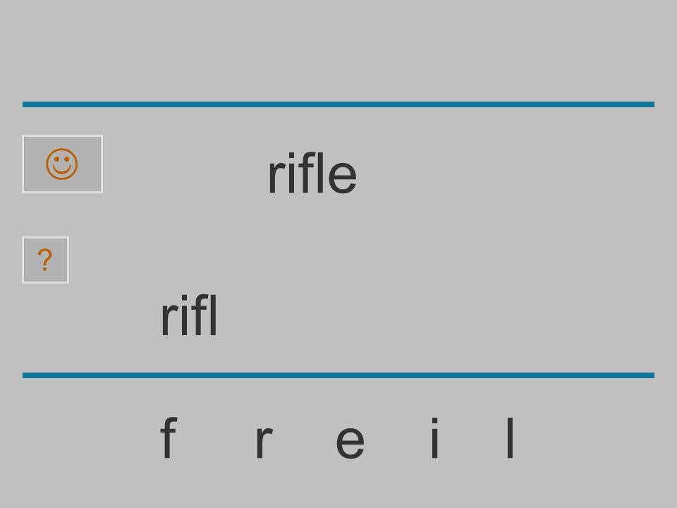  rifle rifl f r e i l