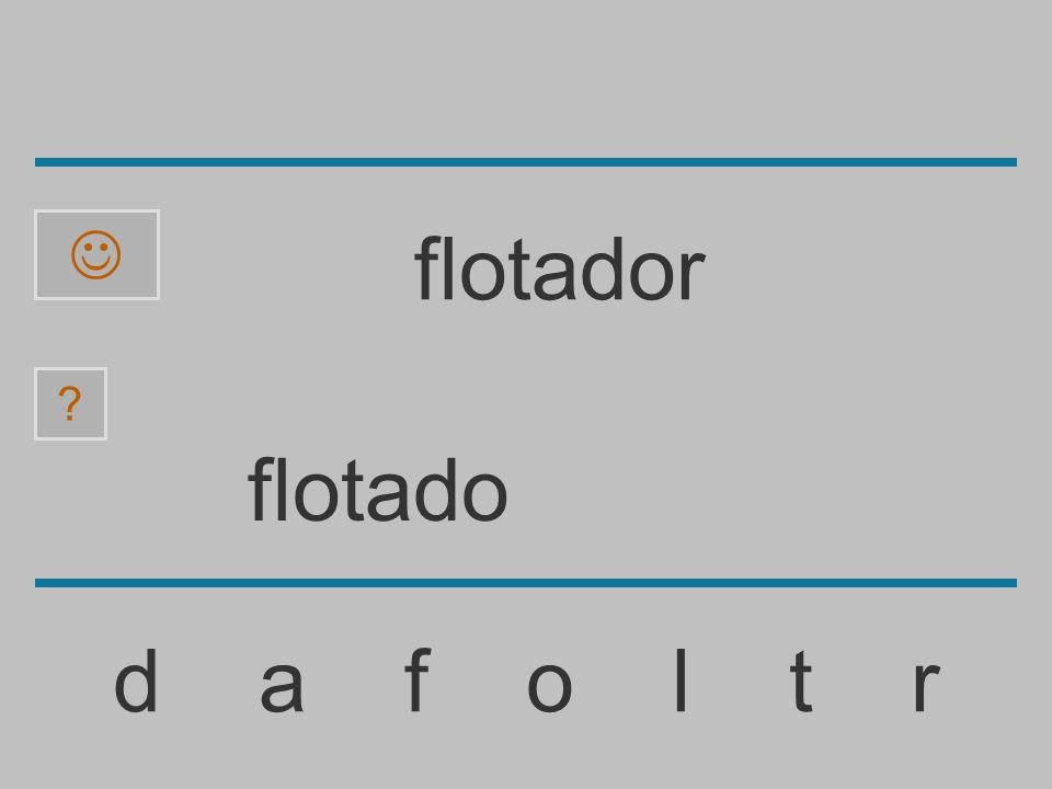  flotador flotado d a f o l t r