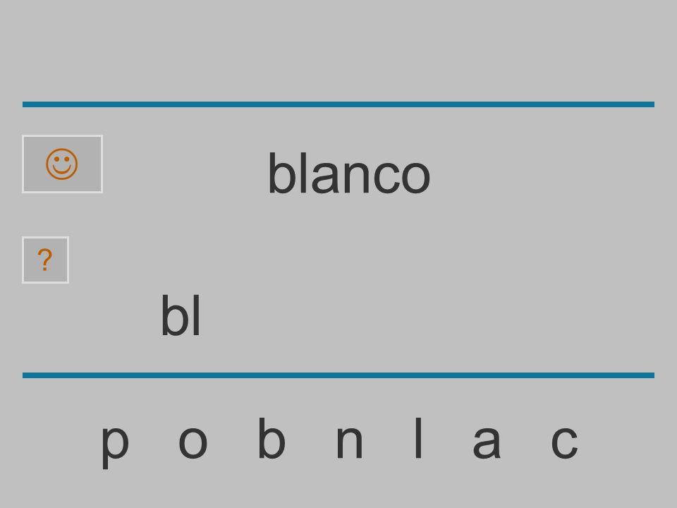 blanco bl p o b n l a c