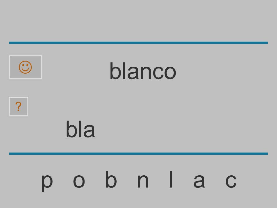  blanco bla p o b n l a c