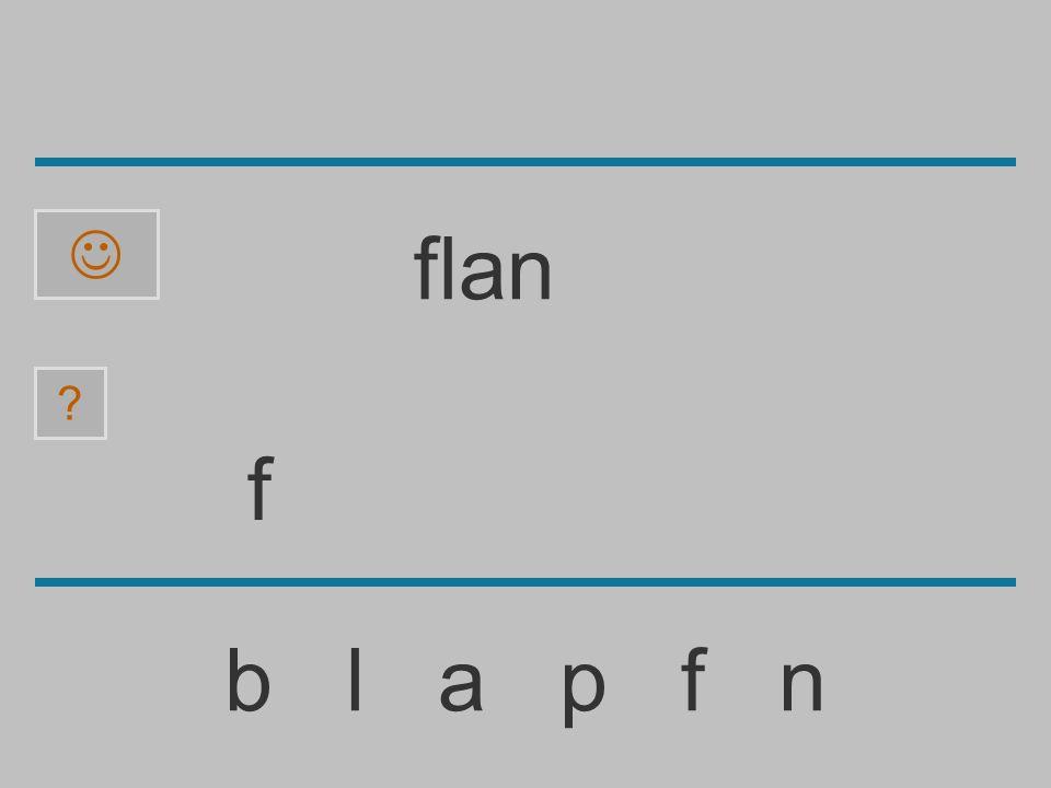  flan f b l a p f n