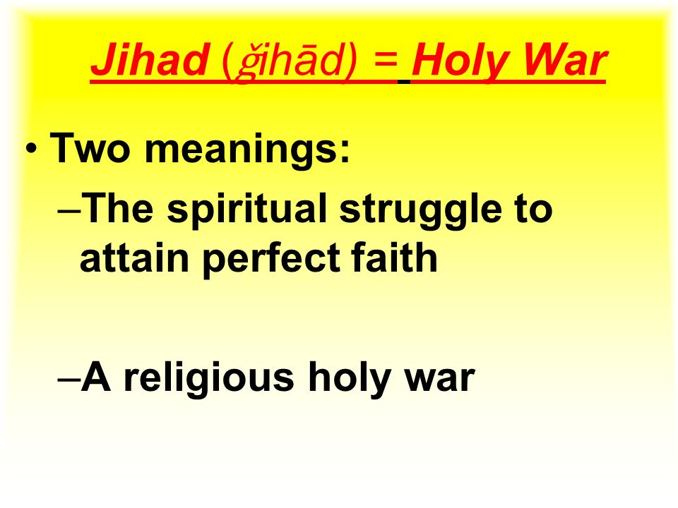 "jihad a holy war essay Conventionally, jihad means ""holy war"" need essay sample on jihad we will write a cheap essay sample on jihad specifically for you for only $1290/page."