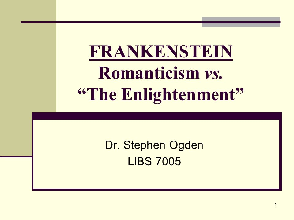from enlightment to romanticism Introductory article explaining romanticism, an intellectual and artistic  of nature  during the enlightenment, commonly expressed in literature,.