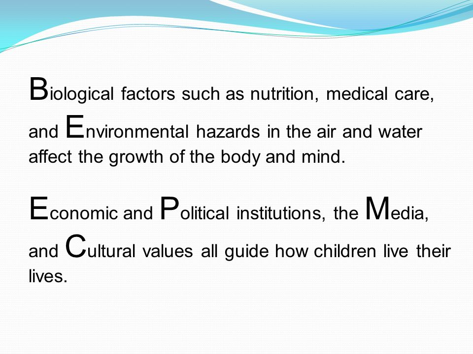 Show How Cultural Factors Can Influence Child Development Essay Sample