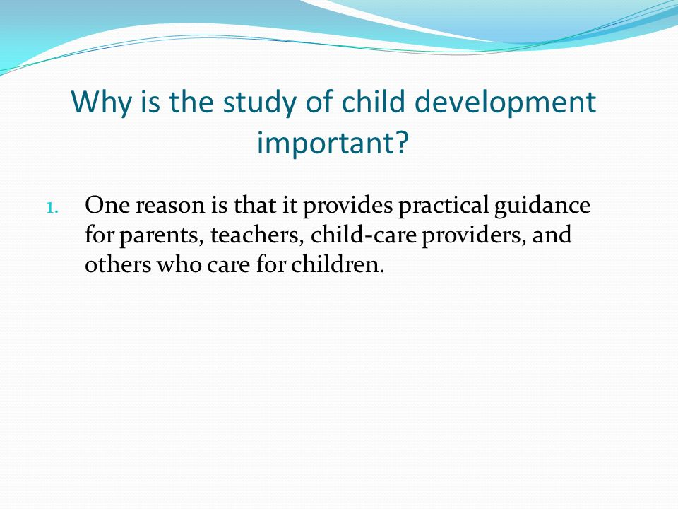 study youngster development