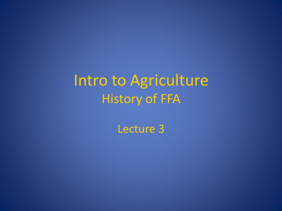 an introduction to the history of agriculture Read chapter 1 introduction: since their inception in 1862, the us land  grant  throughout their history, the land grant colleges of agriculture have had a .