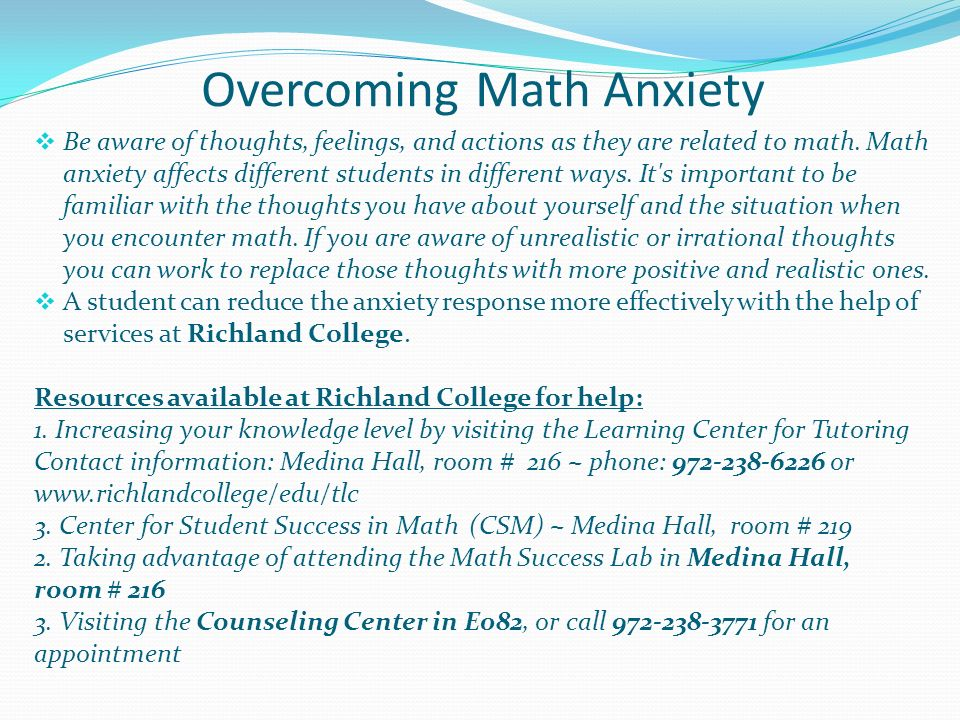overcoming anxiety essay Dealing with panic and anxiety: a personal narrative dealing with panic and anxiety: a personal narrative by david delaney coupled with some relaxation exercises that mum was taught, she slowly began to overcome her fears and the decreased anxiety lead to increased exposure to the world.