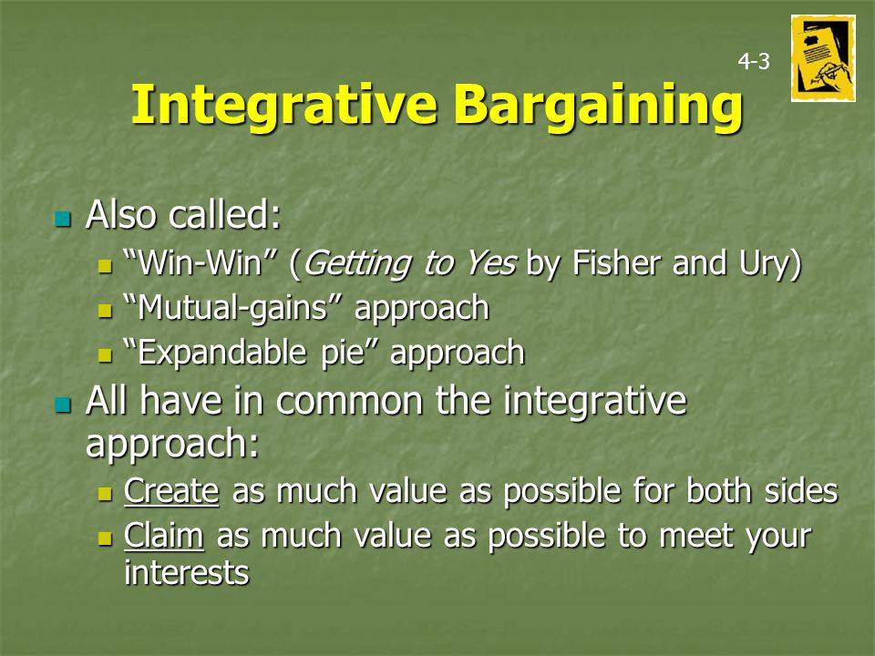 diffwrance between discriptive intergrative bargaining Difference between distributive and integrative bargaining raymond yang garcia 1) integrative bargaining can be used as an effective strategy to manoeuvre out from under superior bargaining power being.
