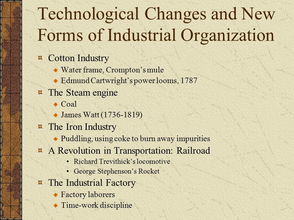 forms of industrial organization Dynamic and evolutionary theory of industrial organization and development was   the proliferation of research on industrial district forms of organization since.