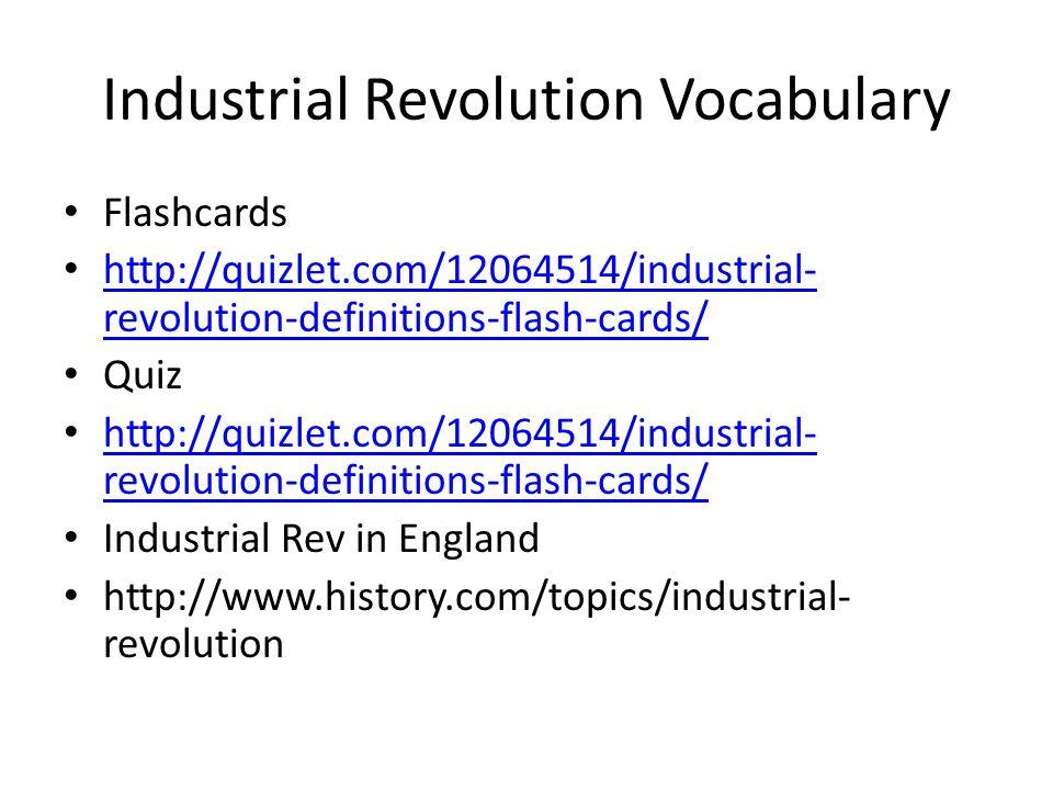 Industrial Revolution Vocabulary