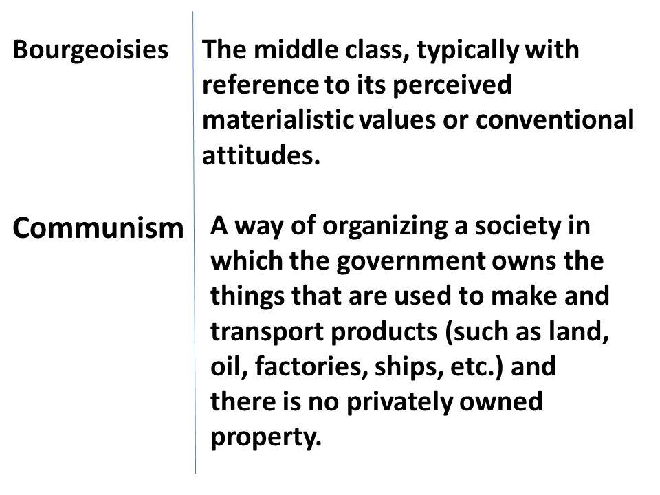 Communism Bourgeoisies