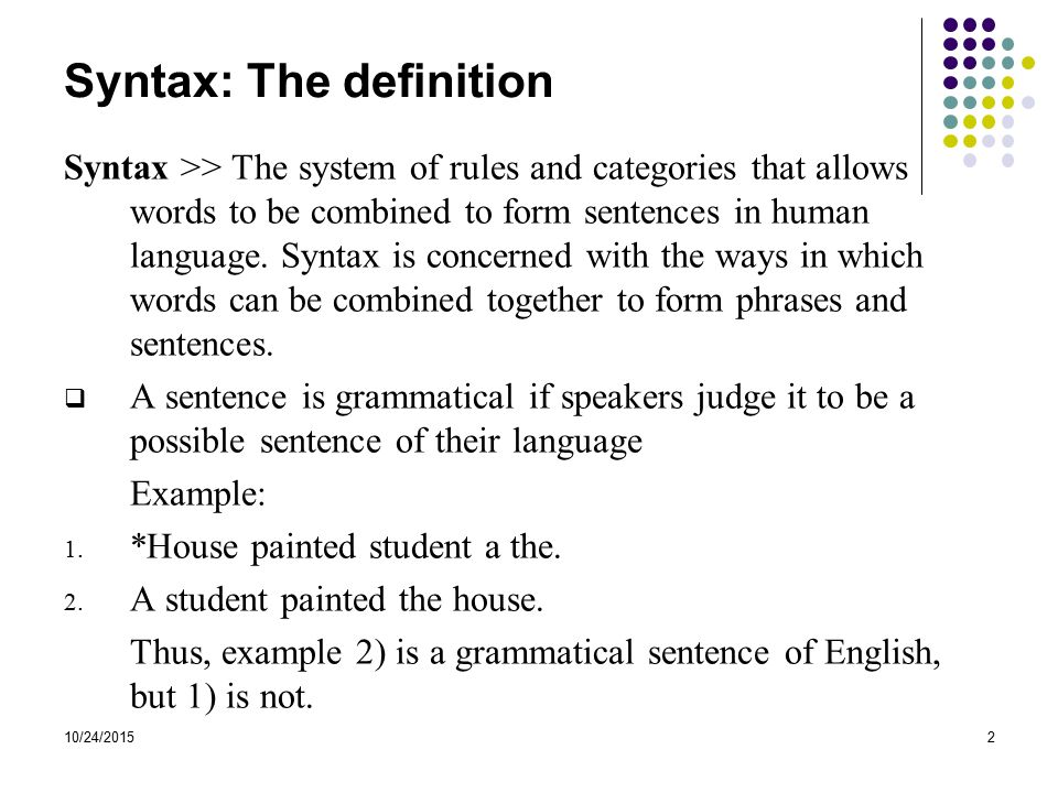Introduction to English Syntax - ppt video online download