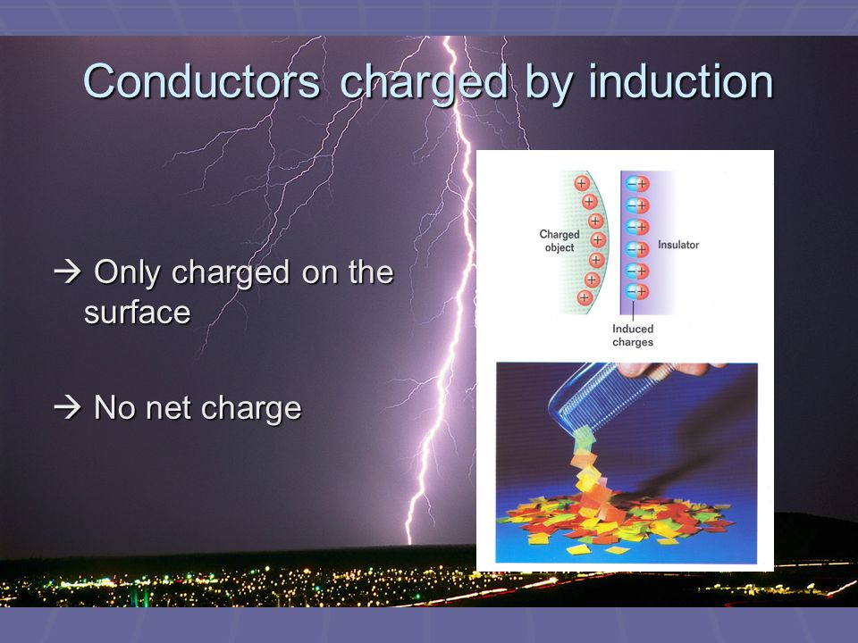 Conductors charged by induction