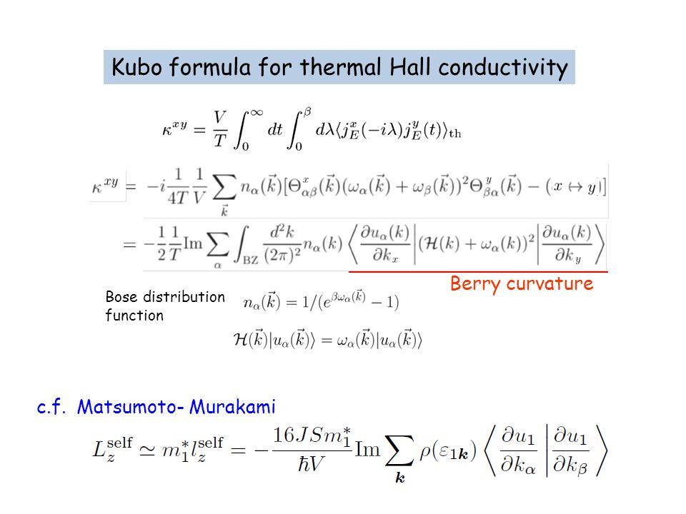 Kubo formula for thermal Hall conductivity
