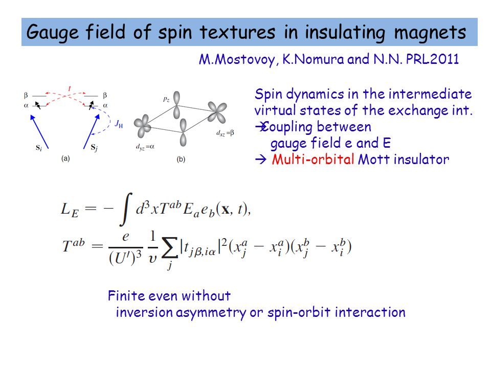 Gauge field of spin textures in insulating magnets