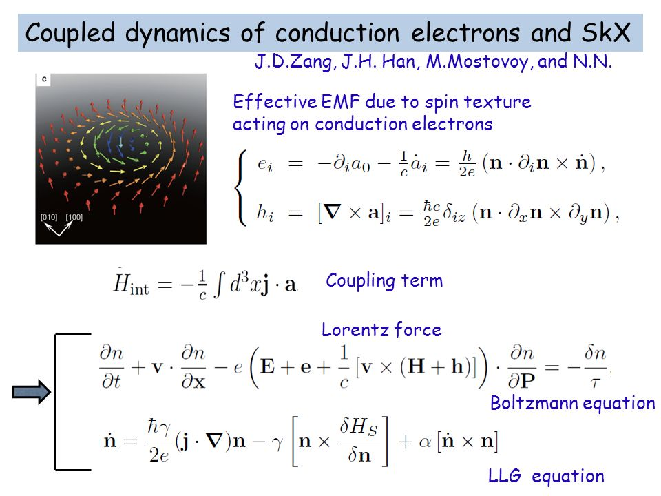 Coupled dynamics of conduction electrons and SkX
