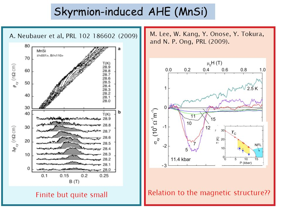 Skyrmion-induced AHE (MnSi)