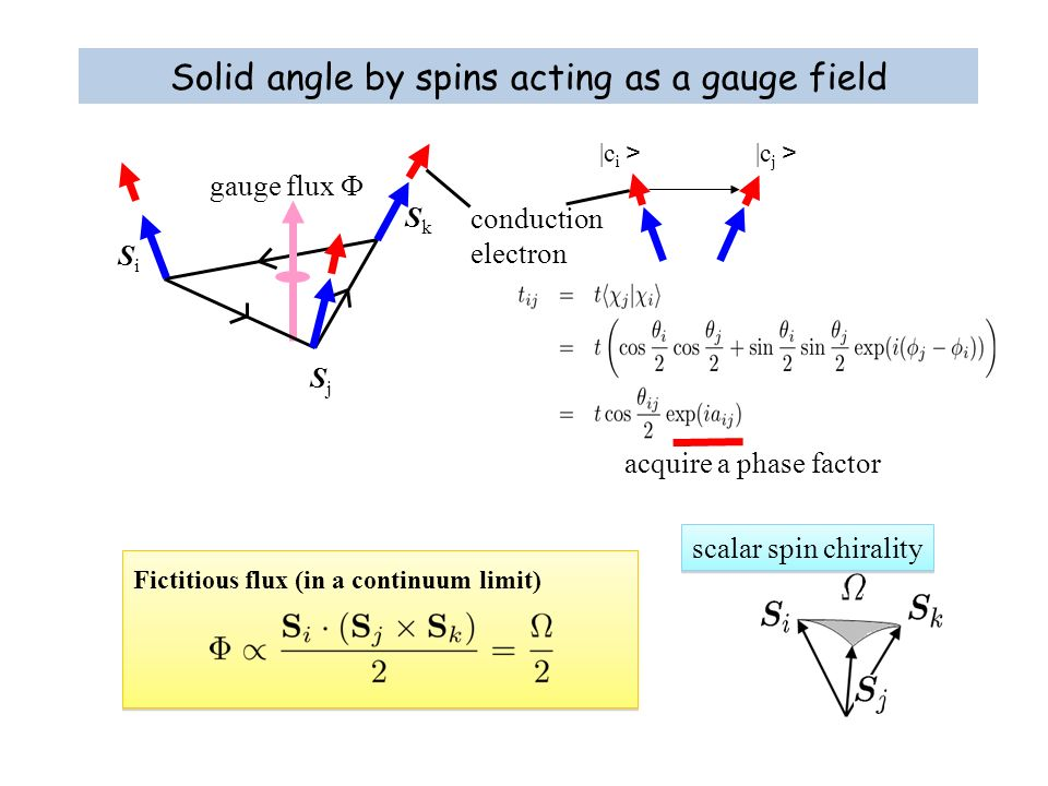 Solid angle by spins acting as a gauge field