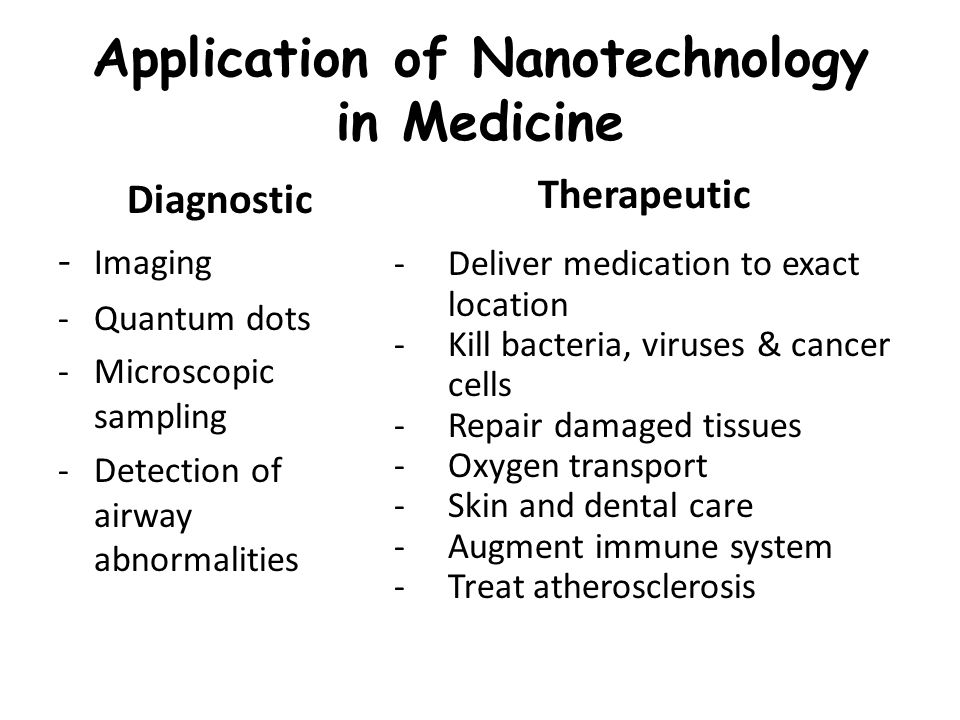 application of nanotechnology in diagnosis and 2016/3/15 in one application of this approach, the center of cancer nanotechnology excellence at stanford university, part of the national cancer institute's (nci) alliance for nanotechnology in cancer, has developed a system in which gold nanoparticles are used to seek out.