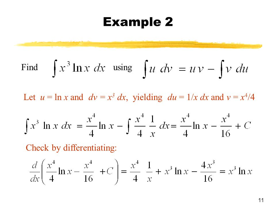 how to choose u integration by parts