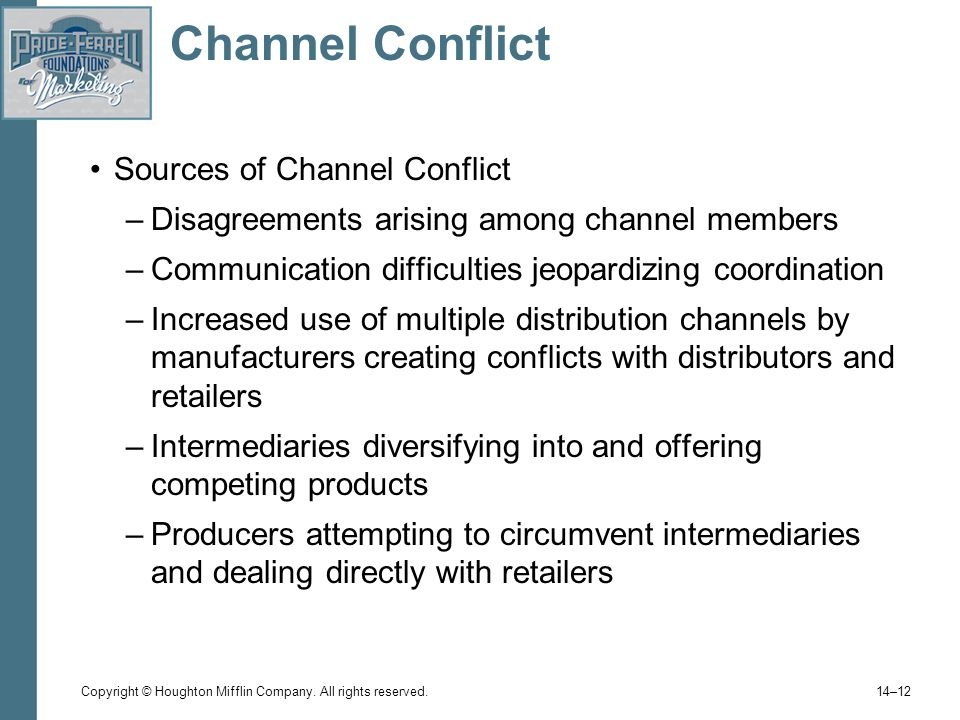 channel conflicts 1) horizontal channel conflicts one of the most common types of channel conflicts to occur is the horizontal ones horizontal channel conflict is a conflict between two players at the same level in the distribution channel.