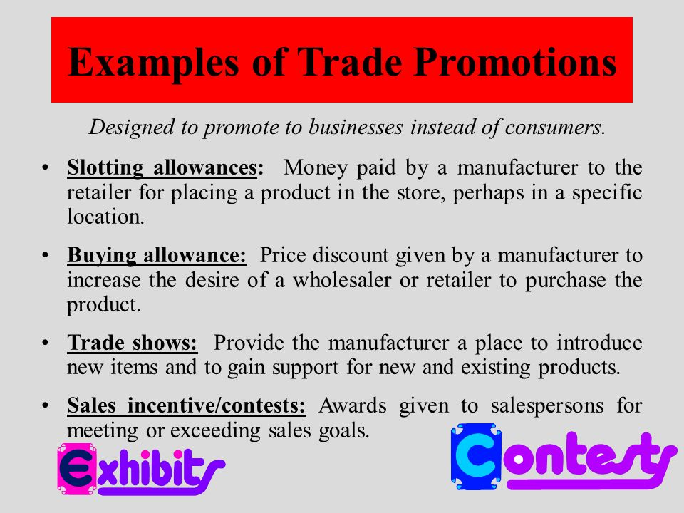 Sales Promotion Promotional activity other than advertising ...