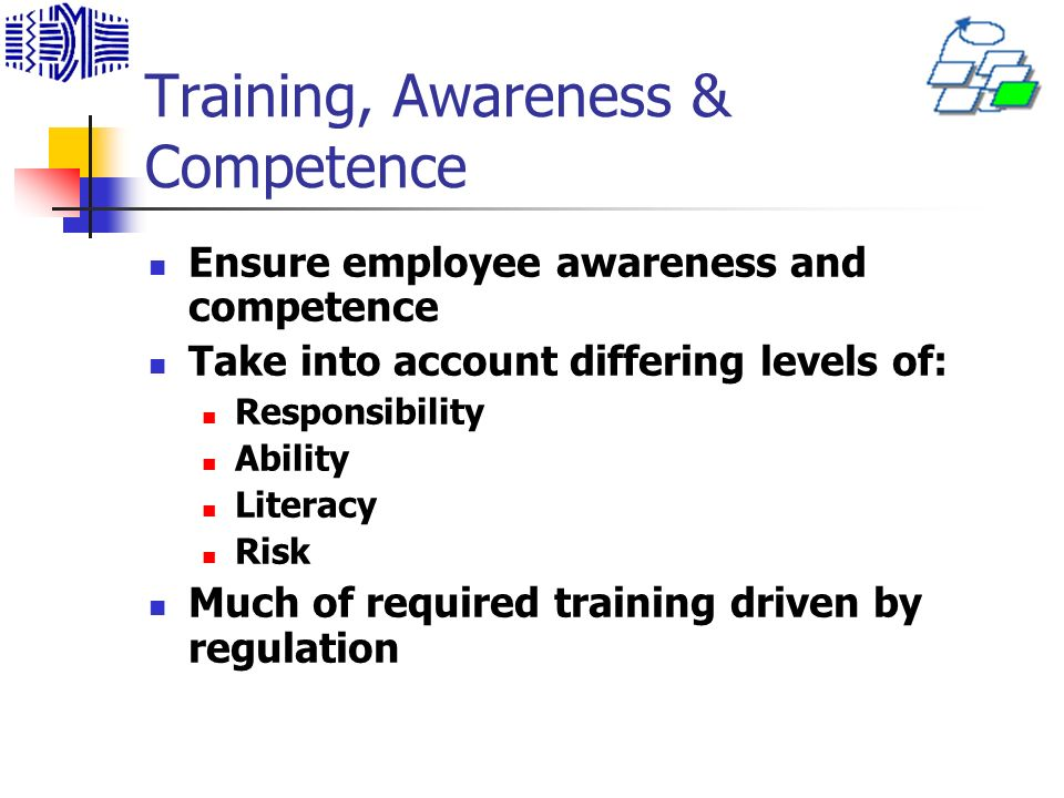 Training, Awareness & Competence