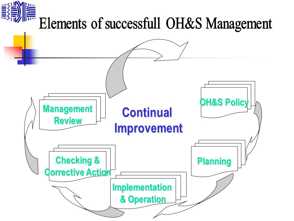 Elements of successfull OH&S Management