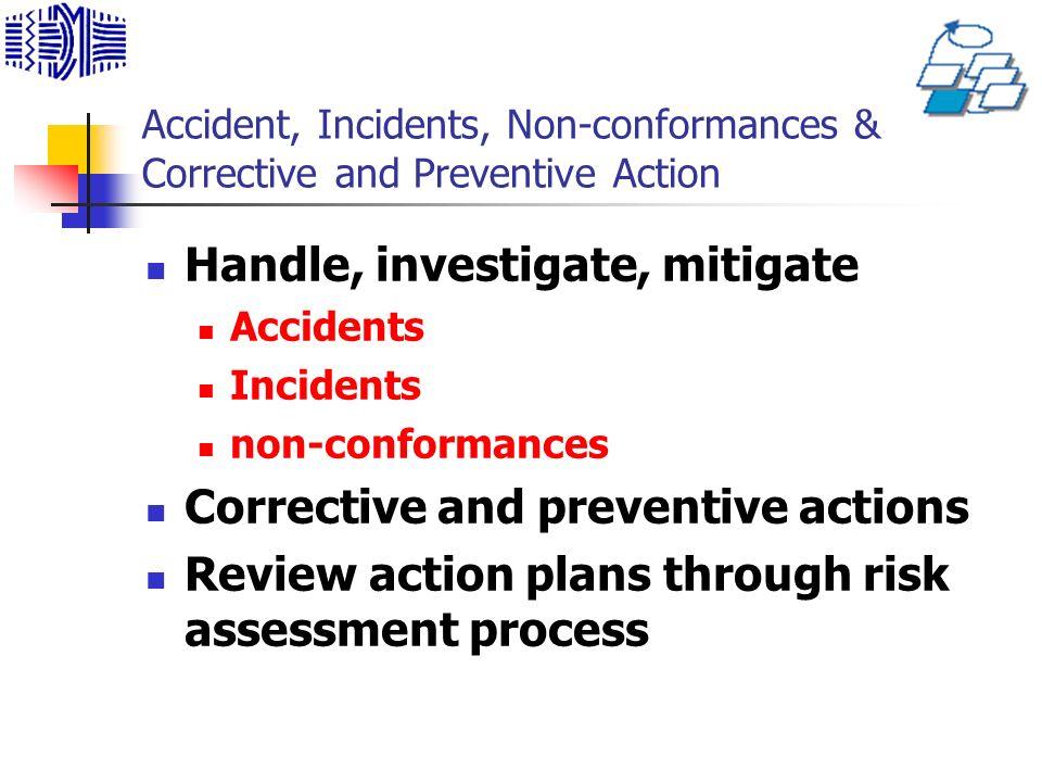 Handle, investigate, mitigate