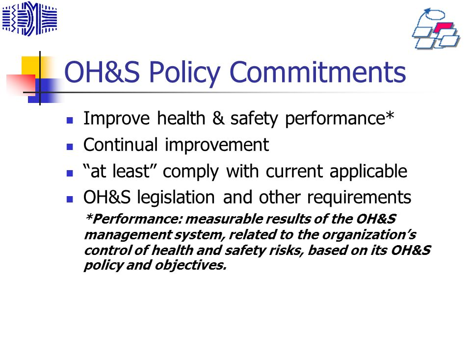 OH&S Policy Commitments
