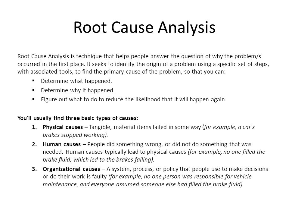 Root Cause Analysis District  Membership  Ppt Video Online Download