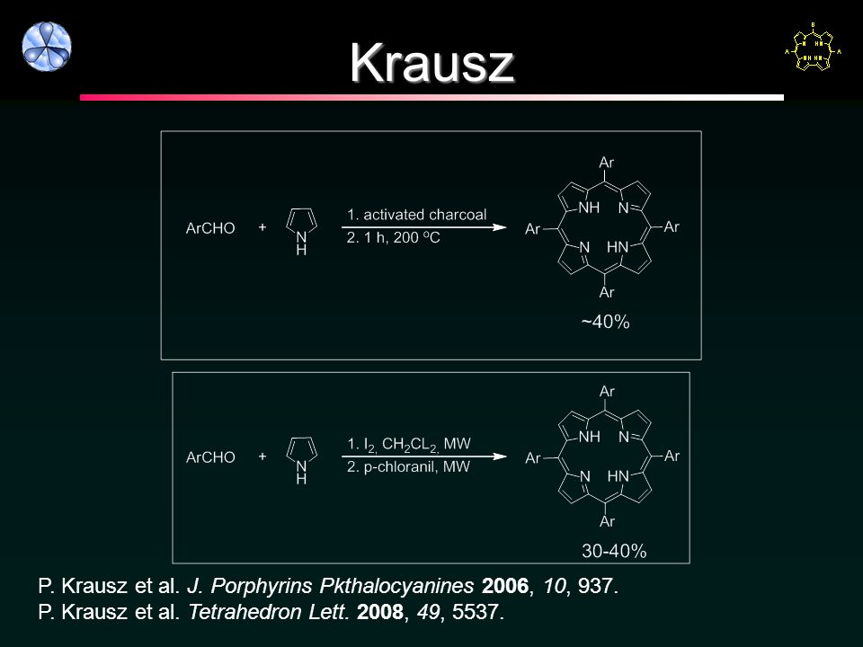 Krausz P. Krausz et al. J. Porphyrins Pkthalocyanines 2006, 10, 937.
