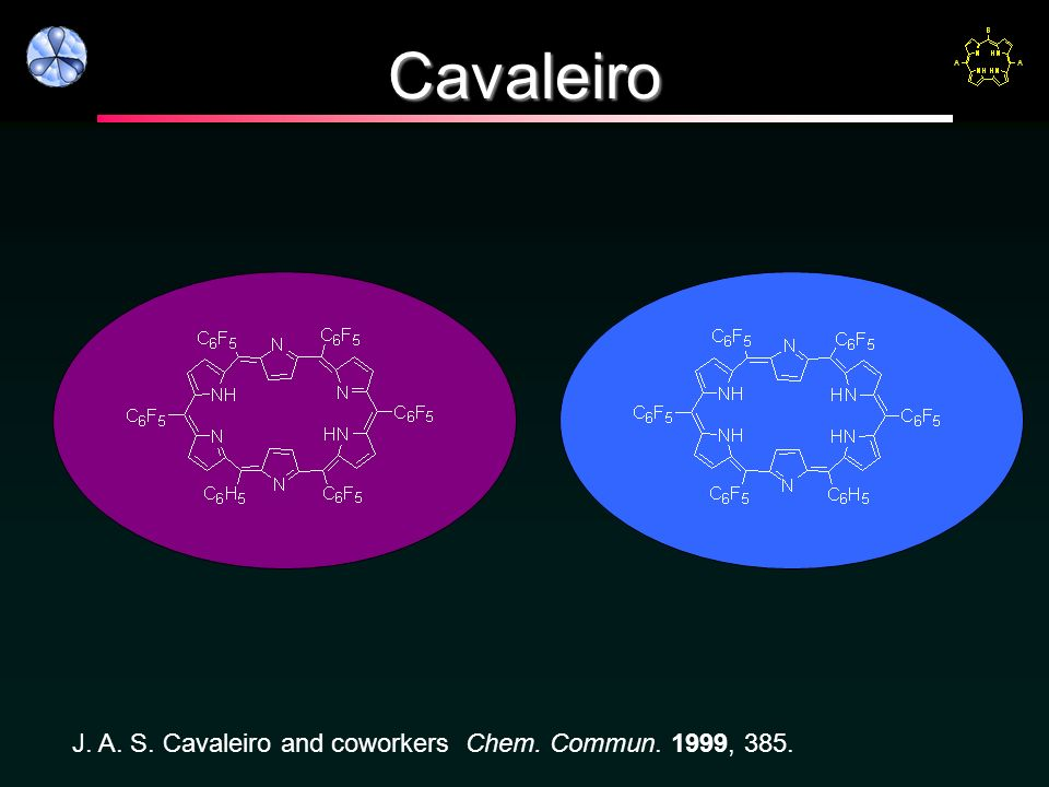 Cavaleiro J. A. S. Cavaleiro and coworkers Chem. Commun. 1999, 385.
