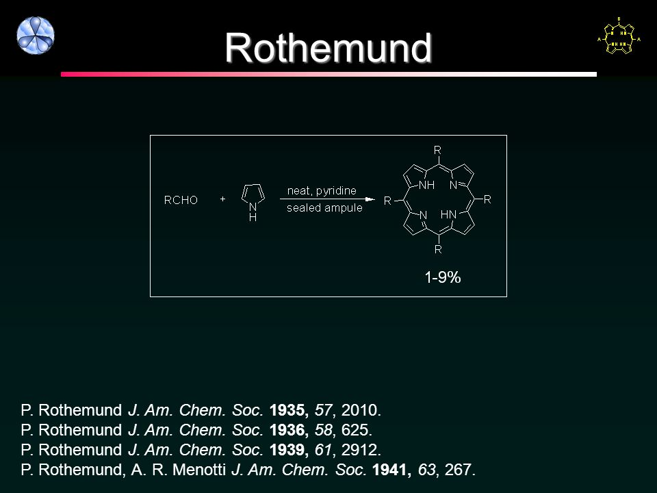 Rothemund P. Rothemund J. Am. Chem. Soc. 1935, 57, 2010.