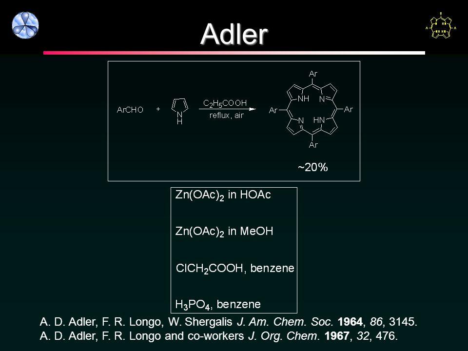 Adler A. D. Adler, F. R. Longo, W. Shergalis J.