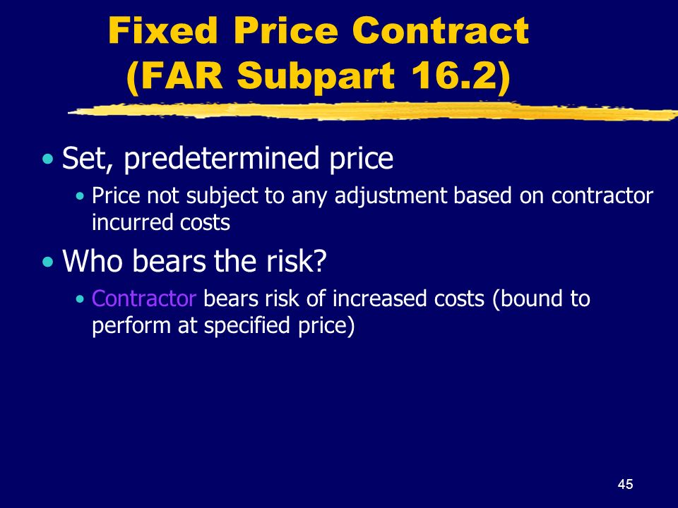 Government contracts ppt download for Fixed price construction contract