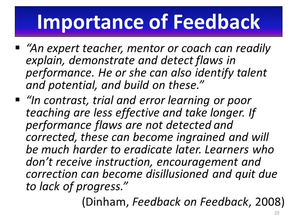importance of feedback in learning pdf