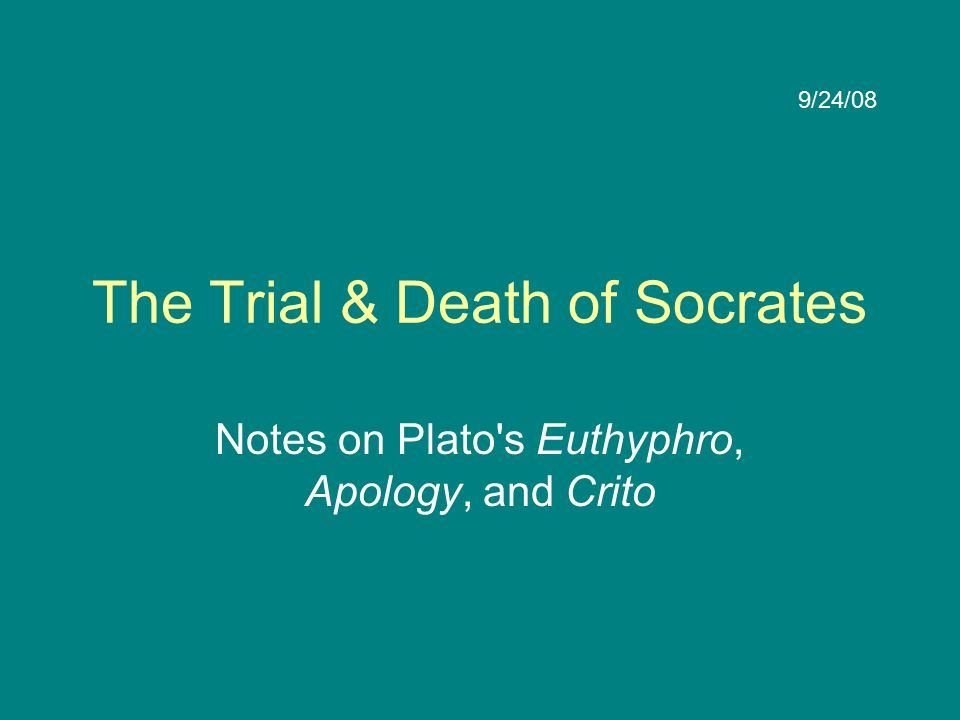 the conversation of the crito and the socrates view of the world Crito is a short but important dialogue by plato it is a conversation between socrates and his wealthy friend crito regarding justice, injustice, and the appropriate response to injustice.