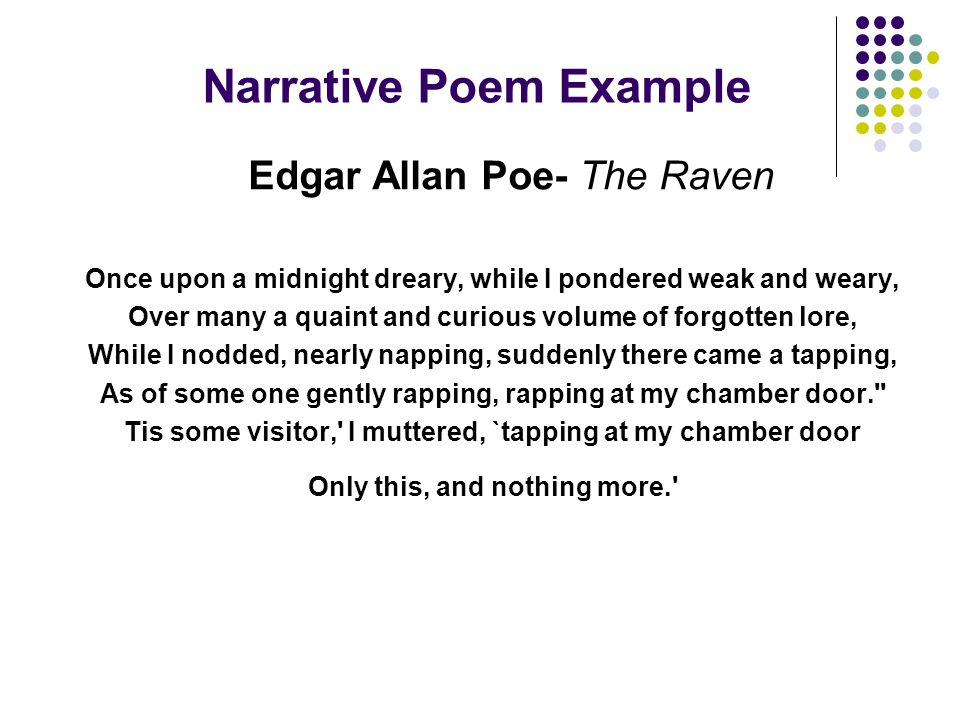 narrative poem essay A narrative essay is a form of academic writing that is built around a narration of a certain event or situation it is a short form of a narrative novel its main objective is to tell a story that it is both engaging and interesting to the reader.