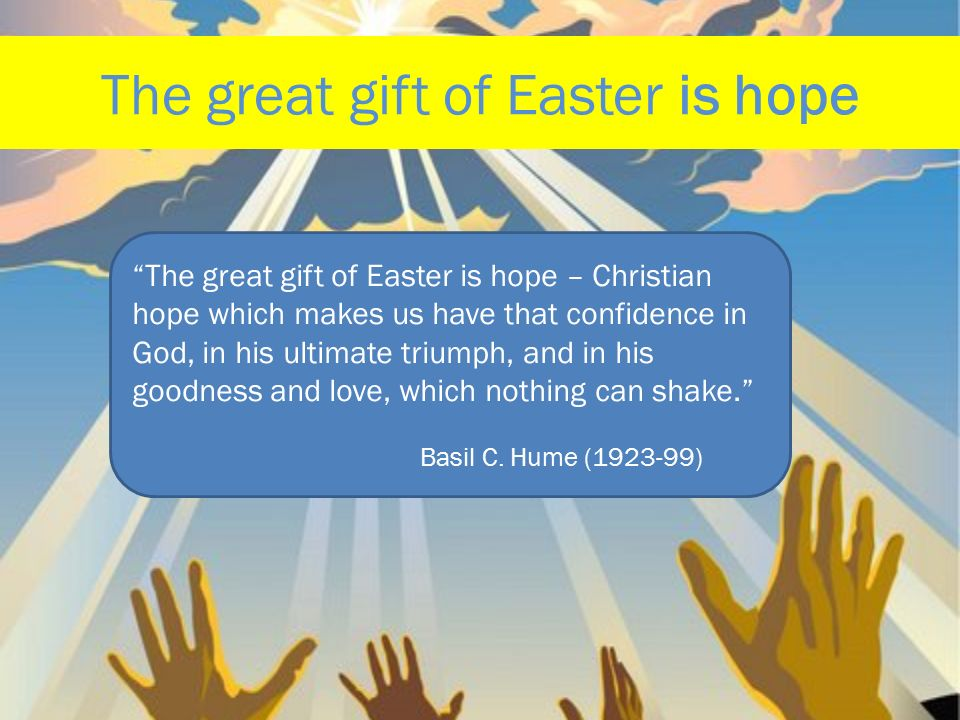 40 days and 40 nights lent is a time to prepare for easter it the great gift of easter is hope negle Gallery